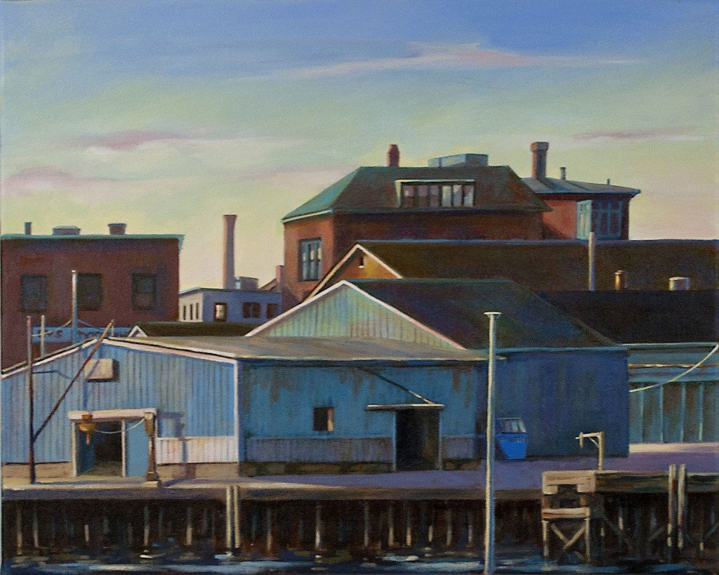 Gloucester Rooftops - Michele Boll Artist