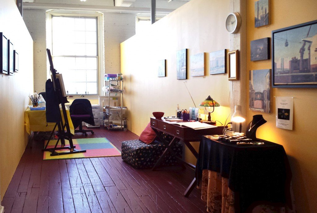 Michele Boll's studio 402 at Western Avenue Studios, Lowell, MA